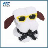 Adorável Cão forma para bolo algodão toalha Washcloth presentes de casamento