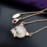Halsband van de Juwelen van de Tegenhanger van het Oog van de Echte de Goud Geplateerde Kat van de Toebehoren van de manier