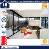 Porte coulissante en verre extérieure de double vitrage patio d'aluminium/en aluminium