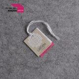 Custom de 2mm Paer Tickness cartón Etiqueta de Bufanda joyas/