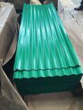 Gi PPGI duro lleno de color galvanizado corrugado acero recubierto de pinturas de la hoja de techado