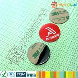 13.56MHz RFID Ntag213 de Antimarkering van de Sticker van het Metaal NFC voor loyaliteitssysteem