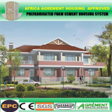 Camere prefabbricate d'acciaio chiare del pannello a sandwich del cemento, villa mobile della costruzione di case del contenitore