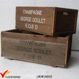 Bijoux en bois recyclés Vintage Brown Art Minds en bois avec poignées