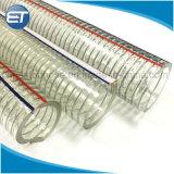 ステンレス鋼ワイヤーが付いている無毒なPVCプラスチック排出水適用範囲が広いホース