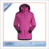 Womens Laminated Polyester Waterproof Rain Coat para atacado