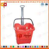 Gute Qualitätssupermarkt-Einkaufskorb mit Fußrollen (Zhb12)