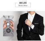Montre de mode de montre de quartz d'affaires d'hommes de Belbi