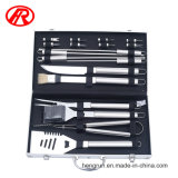 Площадка для барбекю инструменты / набор инструментов для барбекю в алюминиевом корпусе