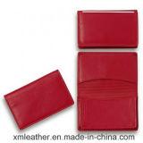 Кожаный бумажник крышки пасспорта держателя кредитной карточки дела