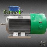 revolución por minuto inferior de 2kw 450rpm alternador sin cepillo de la CA de 3 fases, generador de imán permanente, dínamo de la eficacia alta, Aerogenerator magnético