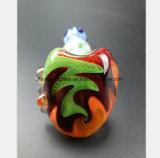 5.51 pouces de marteau de couleur modelant la pipe en verre de tube de main