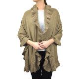 Леди мода акриловый вязки зимой Ruffle шаль шаль устройства обвязки сеткой (YKY SO4158A)