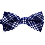 高品質の人の方法綿の格子縞のちょうネクタイの卸売
