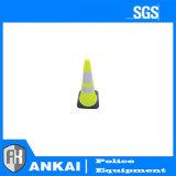 PVC e o cone de tráfego de segurança rodoviária de Borracha