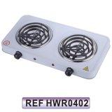 Stufa elettrica elettrica della piastra riscaldante del doppio bruciatore elettrico (HWR0402)