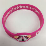 Eco-Friendly Deboossed Customized Promotional Gifts Bracelet en silicone