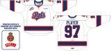 Настроенные Мужчины Женщины дети западной хоккейной лиги Regina Pats 2009-2016 Главная дорога Хоккей Джерси