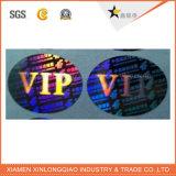 Collant transparent estampé de papier d'étiquette de lustre d'impression auto-adhésive d'étiquette