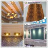 le PVC lustré élevé de panneau de plafond de panneau de mur de salle de bains de PVC de 200/250mm lambrisse DC-53