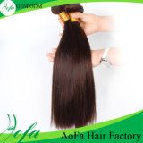 Prolonge brésilienne droite de cheveu de Vierge de vente de couleur non transformée chaude de Brown