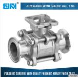 robinet à tournant sphérique de l'acier inoxydable 3PC 316 avec ISO5211