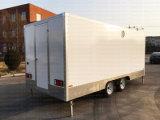 Il gelato moderno trasporta i rimorchi su autocarro del hot dog del camion di approvvigionamento