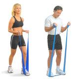Faixa de borracha da aptidão do exercício da faixa da resistência do estiramento de Pilates da ioga durável da alta qualidade