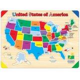 Le parcours d'apprentissage carte lift & Apprendre USA Puzzle