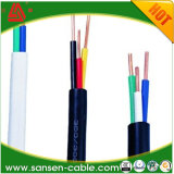 O PVC do cabo de BVV isolou costas elétricas do cabo 2.5mm da manufatura do cabo de fio do gêmeo e de terra