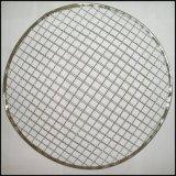 ステンレス鋼の編まれたひだを付けられたバーベキューの金網