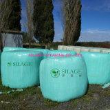 Pellicola di stirata di plastica del silaggio verde per l'imballaggio del foraggio