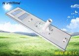 Luz de calle solar al aire libre inteligente de la eficacia alta LED con el panel solar
