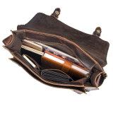 OEMの発注の低価格の良質のレトロ様式のブラウンの革メッセンジャーのケンブリッジ袋