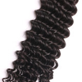 Cabelo 100% humano da peruca de trama indiana profunda do cabelo do Virgin da onda