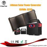 armazenamento de energia solar portátil da fonte de alimentação do gerador 150wh/100W com painel solar