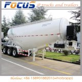2 essieux de la poudre de ciment en vrac de ciment de la remorque de camion de réservoir