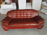 居間の家具(A1108)のための上のグレーンレザーのソファー