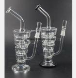 Transparentes, schwarzes Zirkulations-Filter-Glas-rauchendes Gefäß