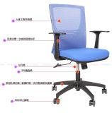 Silla ergonómica reposacabezas de malla de salas de reuniones Muebles de Oficina Conferencia con soporte para el cuello