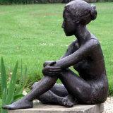 庭の装飾の青銅の裸の女性の鋳造の彫像