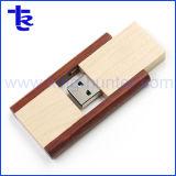 Рекламные деревянные поворотные индивидуального флэш-памяти USB флэш-накопитель USB