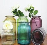 Frasco de vidro colorido de pintura de decoração vaso