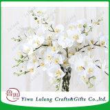 Echte Aanraking 8 Orchideeën van de Kunstbloemen van de Orchideeën van de Zijde van het Effect van de Druk van de Vork 3D Valse