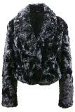 Ladies' veste en fourrure noir écrasés
