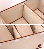Grey Foldable Separate Not Woven Cardboard Large Removable Clothes Storage Box