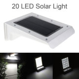 20 de pared de luz solar LED Sensor de movimiento PIR Lámpara de jardín para exterior