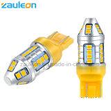 T20 7443 W21/5W 7440 WY21W Желтая светодиодная автомобильная лампа сигнала поворота