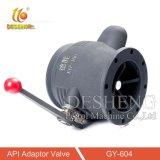 Alimentação de fábrica da válvula do adaptador de API de alumínio com visor de vidro
