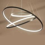 Het Licht van de in het groot Ronde Acryl LEIDENE van Ringen het Hangen Tegenhanger voor Huis